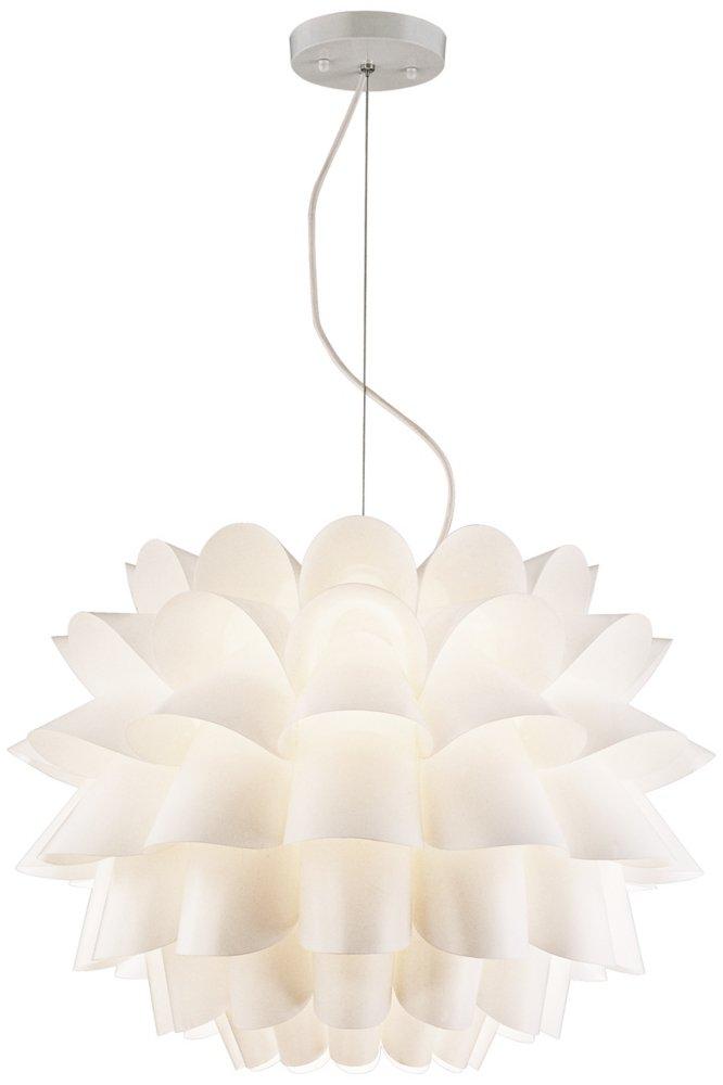 Possini Euro Design White Flower Pendant