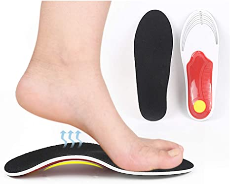 Oorthotic Insoles for Arch Support Plantar Fasciitis Flat Feet Back Heel Pain US