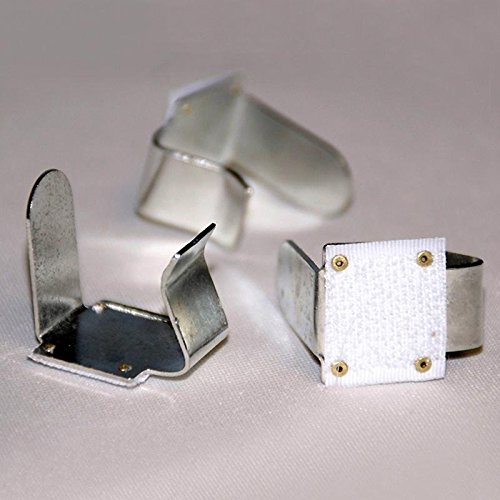 12 PCS Metal Table Skirt Clips with attached Velcro For Wedding Party Event Decoration - For 2'' thickness Table by Efavormart