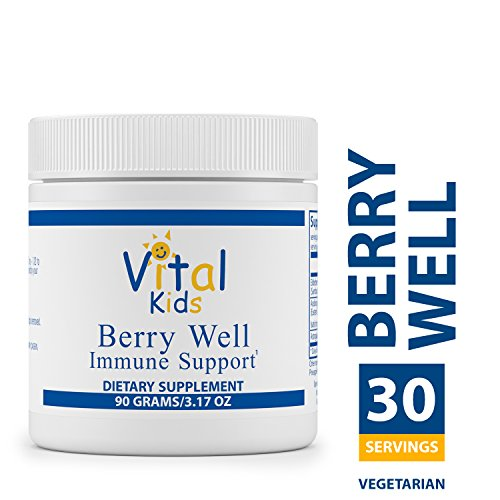 Vital Nutrients - Berry Well Immune Support for Kids - Supports and Maintains Healthy Immune System Function - Vegetarian - 90 Grams of Powder (Vital Nutrients Glutamine Powder)