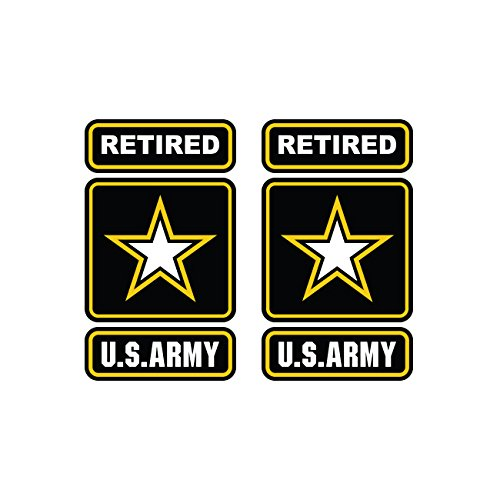 (Two Pack Retired Army Sticker FA Graphix Die Cut Decal Self Adhesive Vinyl Ranger)