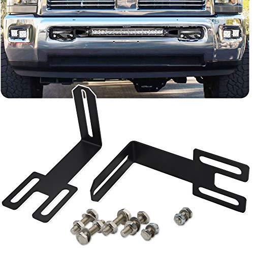For 2003-2019 Dodge Ram 2500 3500 Hidden Bumper Grille Mounting Brackets Fit 22 32 42 Straight LED Light Bar