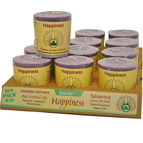 Aloha Bay Chakra Votive Candle, Happiness