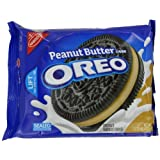 Oreo Peanut Butter Creme Oreo Cookie, 15.25-Ounce (Pack of 4) by Oreo