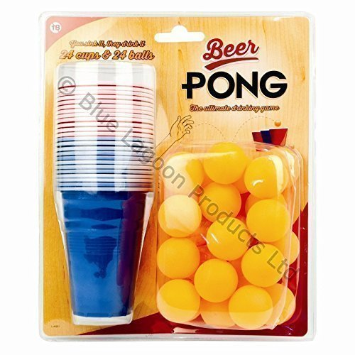 48pc Beer Pong Game Gift Set Blue Lagoon Products Ltd