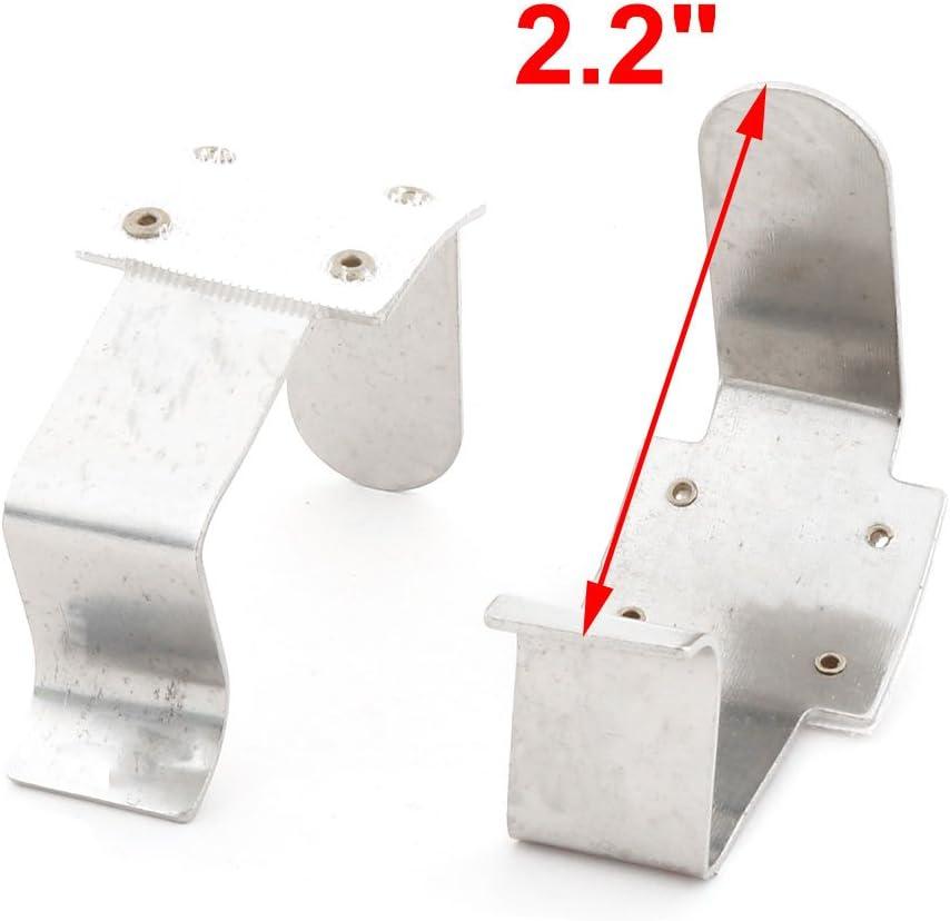 Home Hotel Metal Tablecloth Desk Table Cover Fastener Clamp Clip Silver Tone