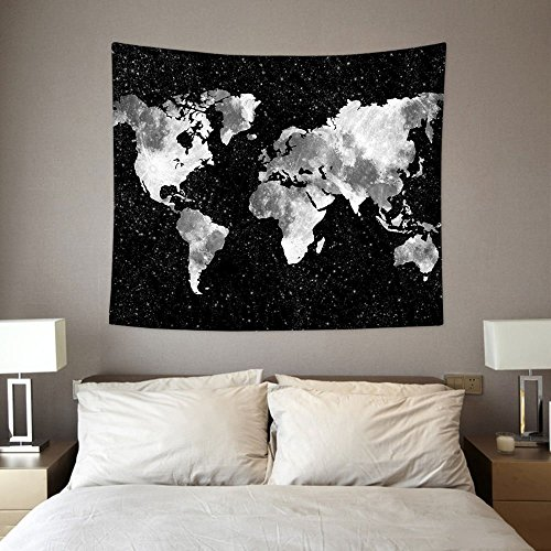 Wall Tapestry Hanging, HL World Map – Light-weight Polyest