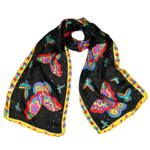 Wrapables Vibrant 100 Scarf Butterflies