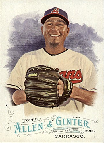 (2016 Topps Allen and Ginter Baseball #261 Carlos Carrasco Cleveland Indians )