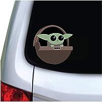M&R Cute Green Baby Alien - 5x5 Vinyl Decal Sticker - for Car, Truck, Vehicle, Window, Bumper, Laptop, MacBook, Hydroflask, Yeti