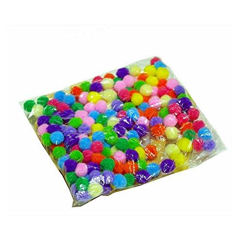 Diameter 4inch Handmade Multicolor Felt Ball Multi Purpose Assorted Beads Pom Pom Balls DIY Craft Accessories Package of 500 * 2