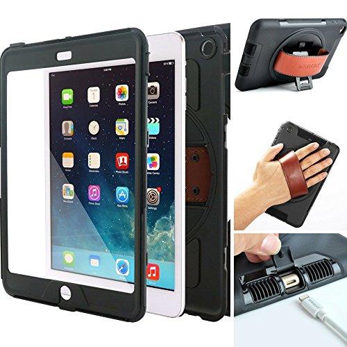 Ipad Wristlet (Minisuit Snap Rotating Case + Hand Strap for iPad Mini 4)