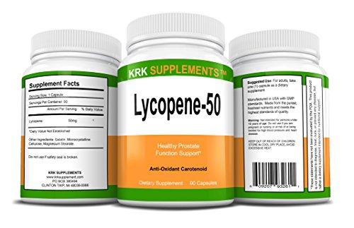 2 Bottles Lycopene 50mg 180 Total Capsules KRK Supplements by KRK SUPPLEMENTS (Image #1)