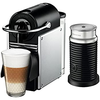Nespresso Pixie Espresso Machine by De'Longhi with Aeroccino, Aluminum