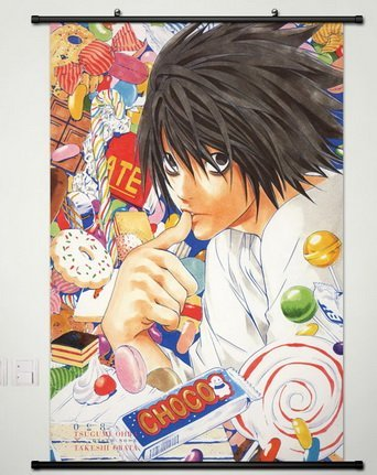 Wall Scroll Poster Fabric Painting For Anime Death Note L Lawliet 064 L