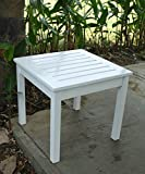 Cambridge-Casual Bentley Square Side Table, White