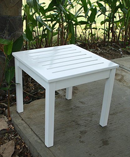 Cambridge-Casual Bentley Square Side Table, White by Cambridge-Casual