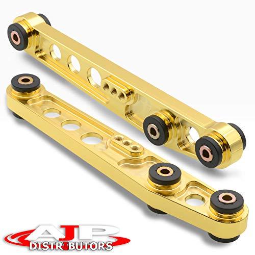 Lower Arms Control Aluminum Rear (AJP Distributors Suspension Aluminum Rear Lower Control Arm Bar Rod 24K Gold Set Fits Honda Civic Crx Del Sol Acura Integra)