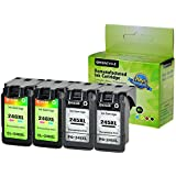GREENCYCLE Re-Manufactured PG-245XL 245 XL CL-246XL CL-246 Ink Cartridge Replacement for Canon Pixma MX490 MX492 IP2820 MG2920 MG2922 MG2924 MG3020 MG3022 TS302 (Black, 2 Pack; Tri-Color, 2 Pack)
