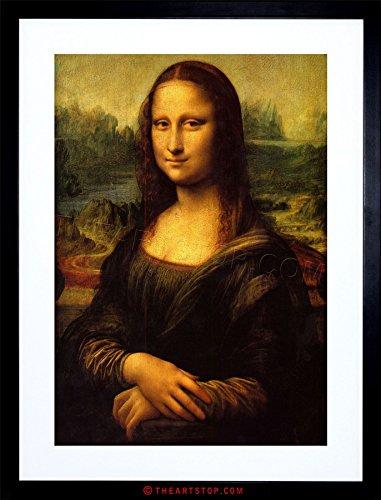 The Art Stop Painting Portrait Study DA Vinci Mona Lisa Detail Framed Print F97X3162 ()