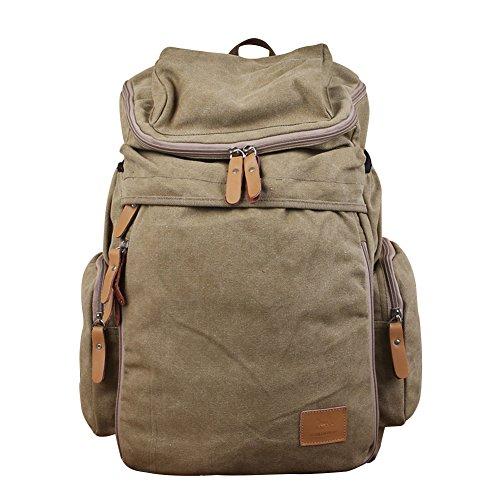 WTUS Mujer hombres de la bolsa de lona de nuevo retro al aire libre el gran viaje mochila mochila mochila de moda para Mujer Brown
