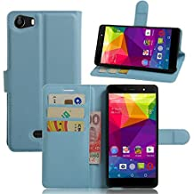 BLU Life One X Case,Gift_Source [Slim Fit] [Kickstand Feature] Magnetic Snap Case Premium PU Leather Wallet Case With Built-in Card Slots Flip Case Cover for BLU Life One X 2016 phone [Blue]
