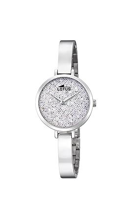 Lotus Watches Reloj Análogo clásico para Mujer de Cuarzo con Correa en Acero Inoxidable 18561/1: Amazon.es: Relojes