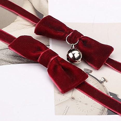 Schwarz Da.Wa 1 St/ück Fliege mit Glocke Stil Damen Kette Halsketten Accessoire Geeignet f/ür Partys//Termine//Hochzeiten und Allt/ägliche Veranstaltungen Ohne Perlen