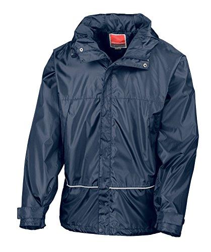 RT155X Pro Coach Jacke Windjacke Regenjacke Kapuze , Farbe:Navy;Größen:S