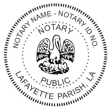 Louisiana Notary Seal - 2