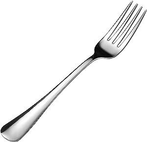Voraca 12 Pcs/Set Dinner Forks, 7 Inches Stainless Steel Dessert Forks Salad Forks, Dishwasher Safe