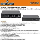 Intellinet INT 16Pt Gigabit Ethernt Swtch (561068)