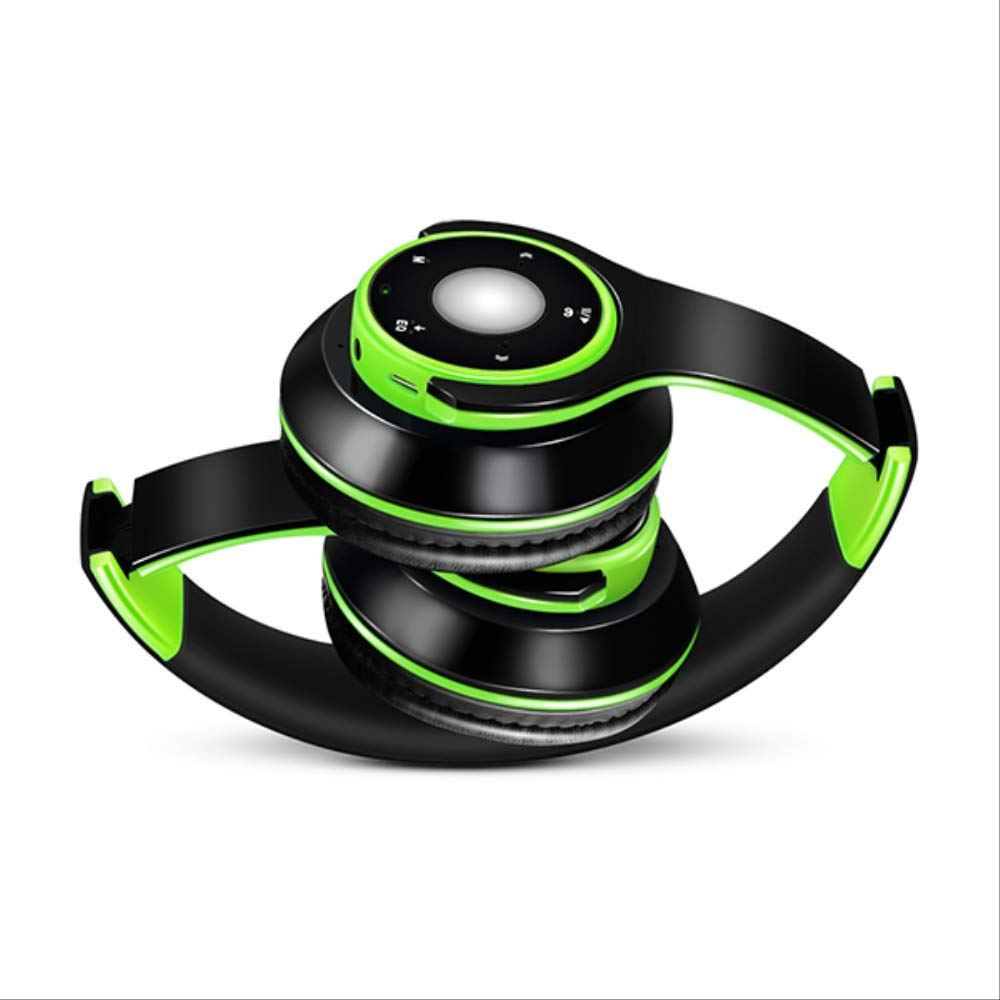 PMWLKJ Colorful estéreo Audio MP3 Bluetooth Auriculares ...