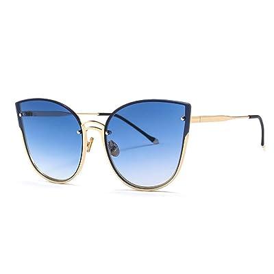 YLNJYJ Gradient Cat Eye Sunglasses Mujeres Retro Metal Cateye Gafas De Sol Vintage Lunette De Soleil Femme: Deportes y aire libre