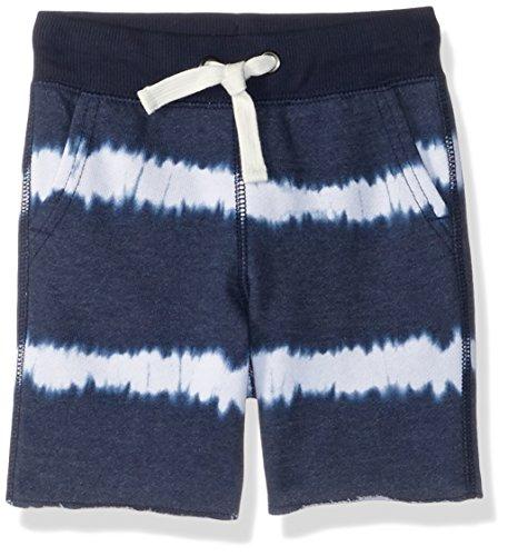 Indigo Drawstring - Gymboree Baby Boys Drawstring Knit Shorts, Indigo Tie Dye Stripe, 2T