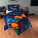 Space Planets Single Duvet Cover and Pillowcase - Kids Science Museum by Science Museum