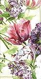 Ideal Home Range 3-Ply Paper Elizabethan Garden Cream, 16 Count Guest Towel Napkins Set of 2