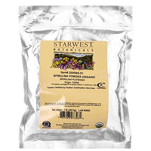 Starwest Botanicals, Spirulina Powder, Organic, 1 lb (453.6 g) - 3PC by Starwest Botanicals