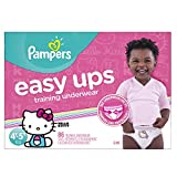 : Pampers Easy Ups Training Pants Pull On Disposable Diapers for Girls Size 6 (4T-5T), 86 Count, GIANT