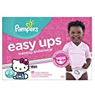 Pampers Easy Ups Training Underwear Girls Size 6 4T-5T, 86 Count