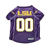 Louisiana State LSU Tigers Premium NCAA Pet Dog Jersey w/ Name Tag MEDIUM