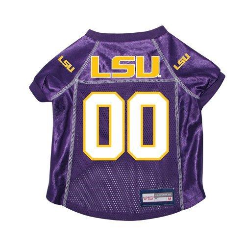 Louisiana State LSU Tigers Premium NCAA Pet Dog Jersey w/ Name Tag MEDIUM by Bama