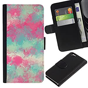 KingStore / Leather Etui en cuir / Apple Iphone 6 / Pintura Primavera Naturaleza Arte;