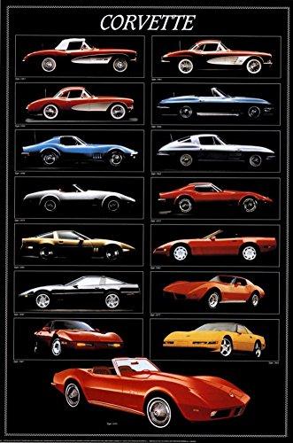 Corvette Chart Poster 24 x 36in