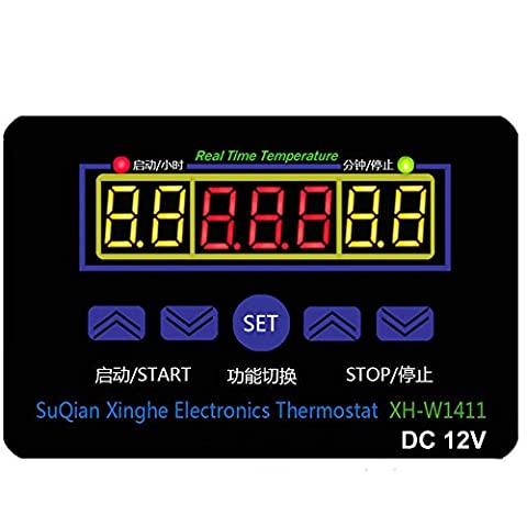 Qianson DC 12V 10A Multifunction Digital LED Temperature Controller Thermostat Control Switch -19-99℃ With Sensor (Animal Temperature Controller)