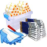 professional house painters 50 Piece Painters Multi use,Home Tool kit,Mini Paint Roller Covers,Paint Roller,Paint Brush,Paint Roller Frame,Home Repair Tools,Tools,Tool kit,Tool case,Home Tool kit,Tool Storage,Tool Box