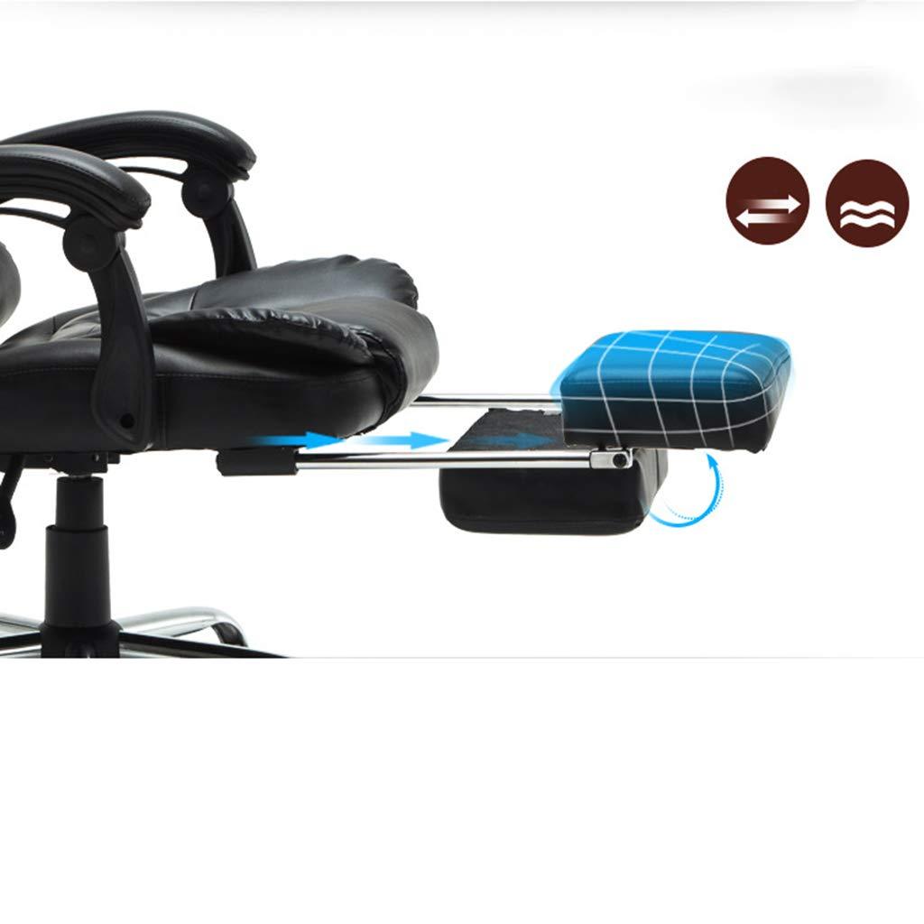 Kontorsstol chef tjock vadderad svängbar kontorsstol med armstöd höjd justerbar och huvudstöd lutningsspänning (färg: B) b