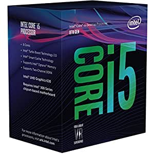 Intel Core i5 8500 - Procesador (3.0GHz, 4.1GHz Turbo, 9MB Cache, 1100MHz GPU, 65W) Color Plata