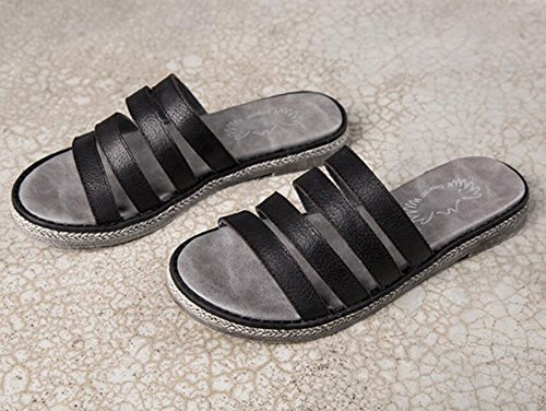 Sandali Donna Per Lestate Nuove Pantofole In Pelle Casual Moda Scarpe Piatte Retrò