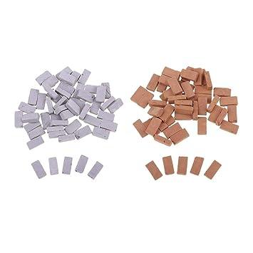 FLAMEER 100x Mini Modelos de Ladrillo Material para Modelo Escena de Mesa de Arena 1.7 x 0.9cm: Amazon.es: Juguetes y juegos